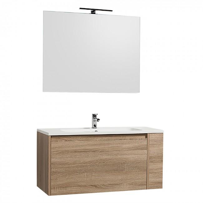 Meuble de salle de bains -  100 cm - oya - chêne naturel BATHDESIGN