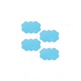 Lot de 4 tapis - Anti-dérapant - Nuage - bleu ciel - 14,5x9cm SPIRELLA