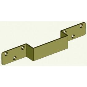 Renfort pour gâche de verrou de sûreté 12060 - finition bronze DEVISMES