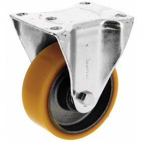 Roulette fixe - sur platine - roue althane - Fortainer GUITEL