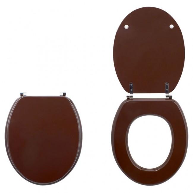 Abattant wc sur cuvette standard chocolat color line wirquin pro bricozor - Wc c olour grijze ...