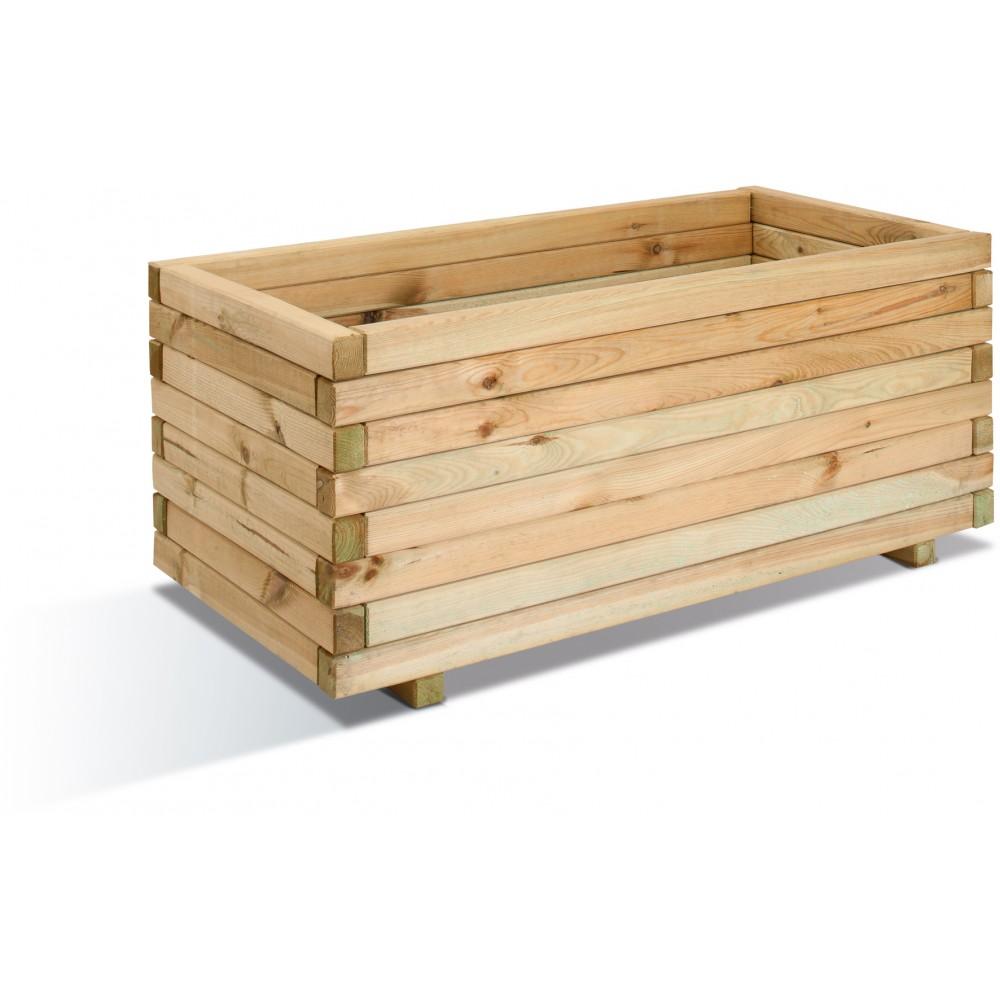 Jardini re en bois 143 litres 100 x 50 cm stockholm 50 jardipolys bricozor - Jardiniere en bois ...