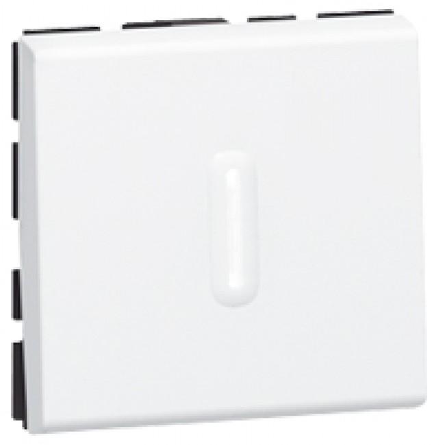 Poussoir inverseur à voyant à led Mosaic - 2 modules - 6A - blanc LEGRAND