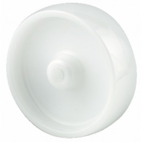 Roue polyamide blanc - moyeu lisse - UOO TENTE