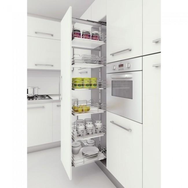 Colonne compl te de cuisine extractible charge 120 kg bricozor - Colonne cuisine 50 cm largeur ...