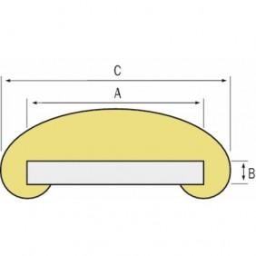 Main courante ovale en PVC REHAU