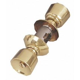 Serrure tubulaire de sûreté sans boîtier - V 6500 laiton poli VACHETTE