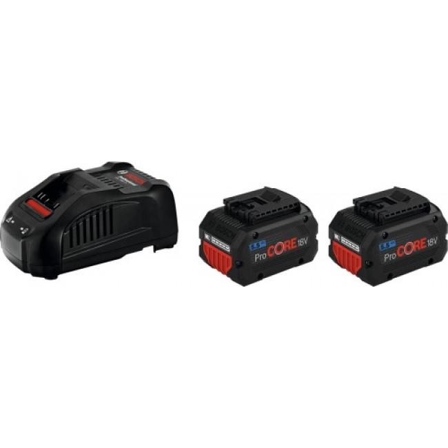 Pack batteries ProCORE 18V-5,5Ah + chargeur BOSCH