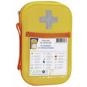 "Trousse de secours - accidents type ""plombier"" - 1/3 personnes FARMOR"
