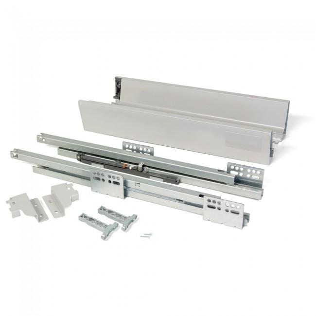 Kit tiroir Vantage-Q-hauteur 83 mm-gris métallisé EMUCA