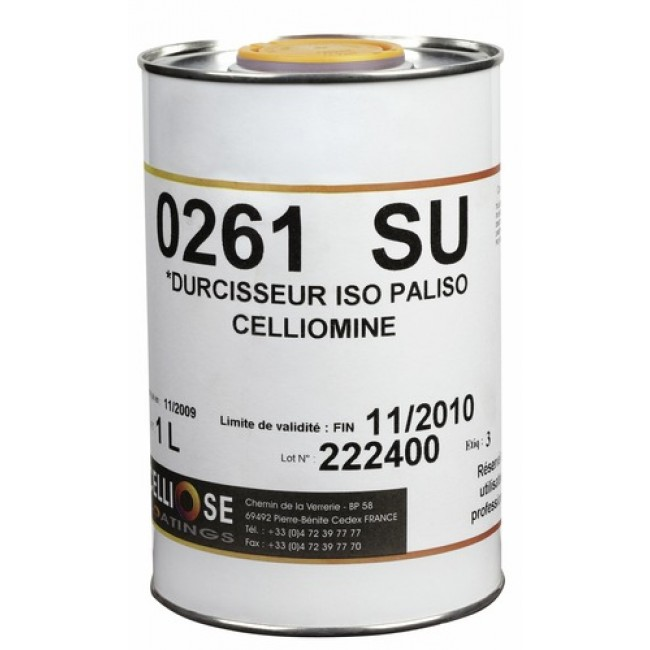 Durcisseur 0261 SU pour isolant - 1 litre - Paliso 0260 SU CELLIOSE