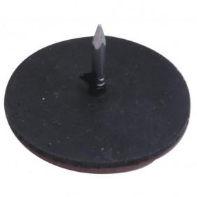 Patins glisseurs cloutés en téflon-diamètre 30mm-25 pièces ERELS
