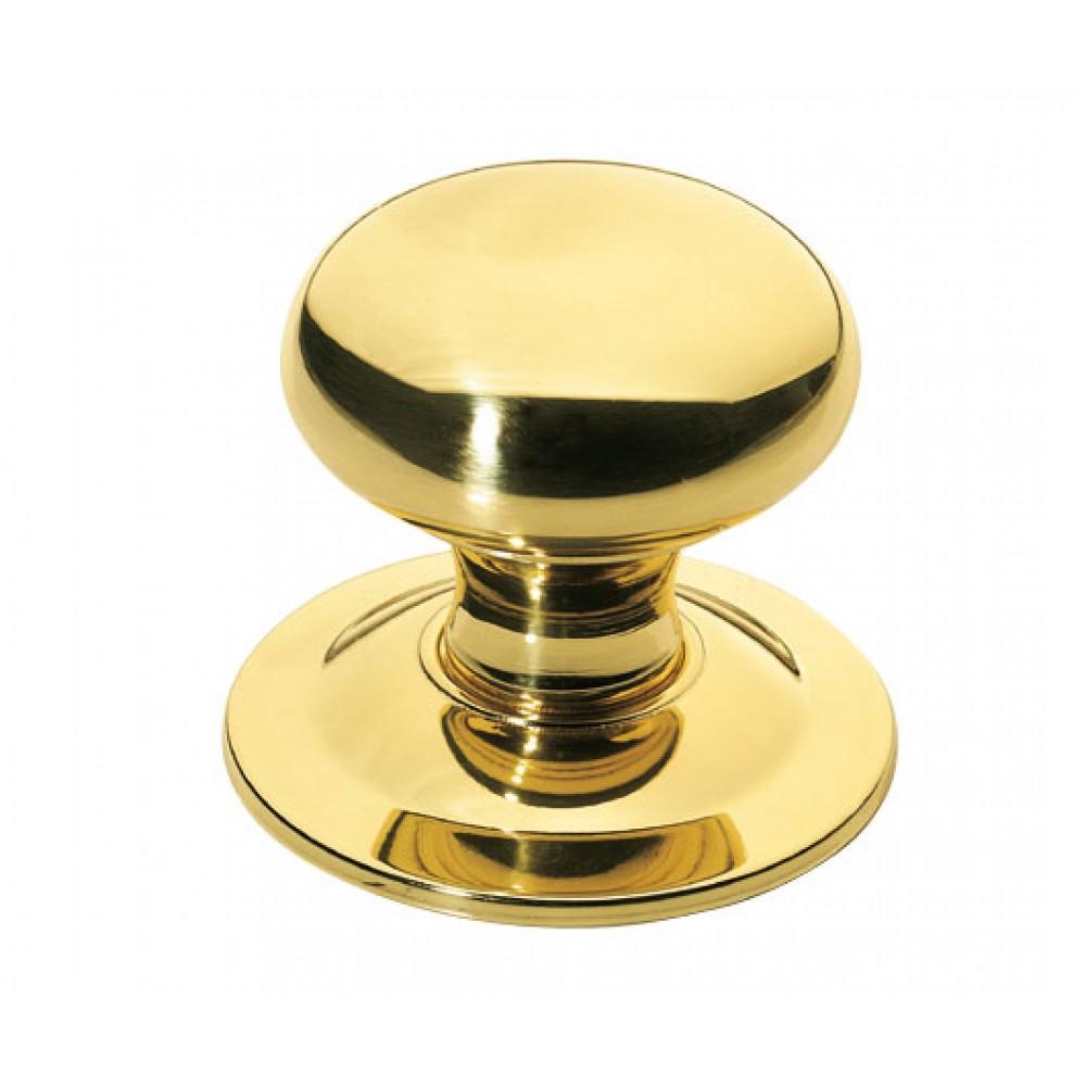 bouton de porte rond en laiton poli protection titane cadap bricozor. Black Bedroom Furniture Sets. Home Design Ideas