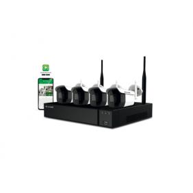 Kit vidéosurveillance 4 caméras WIFI et 1 enregistreur - WIKIT004S02NB Comelit immotec