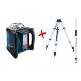 Laser rotatif GRL 500 H+ cellule de réception + trépied + mire BOSCH