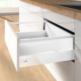 Kit tiroir tringles InnoTech Atira-H144 mm-Silent System 30 kg-blanc HETTICH