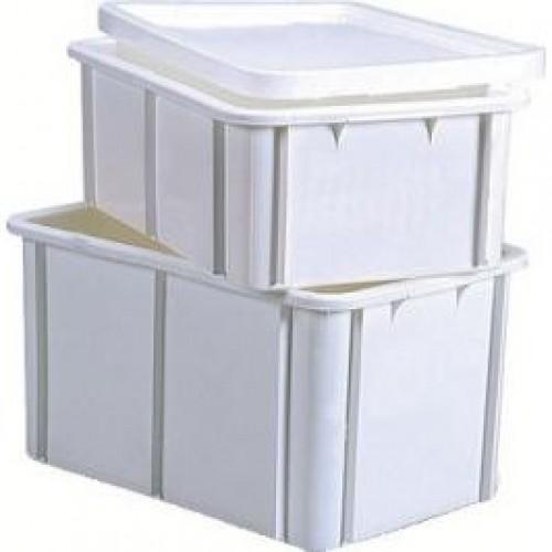 Bac gerbable en plastique blanc