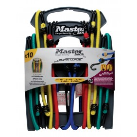 Lot de 10 tendeurs - 2x25 cm, 2x45 cm, 2x60 cm, 2x80 cm, 2x100 cm MASTER LOCK