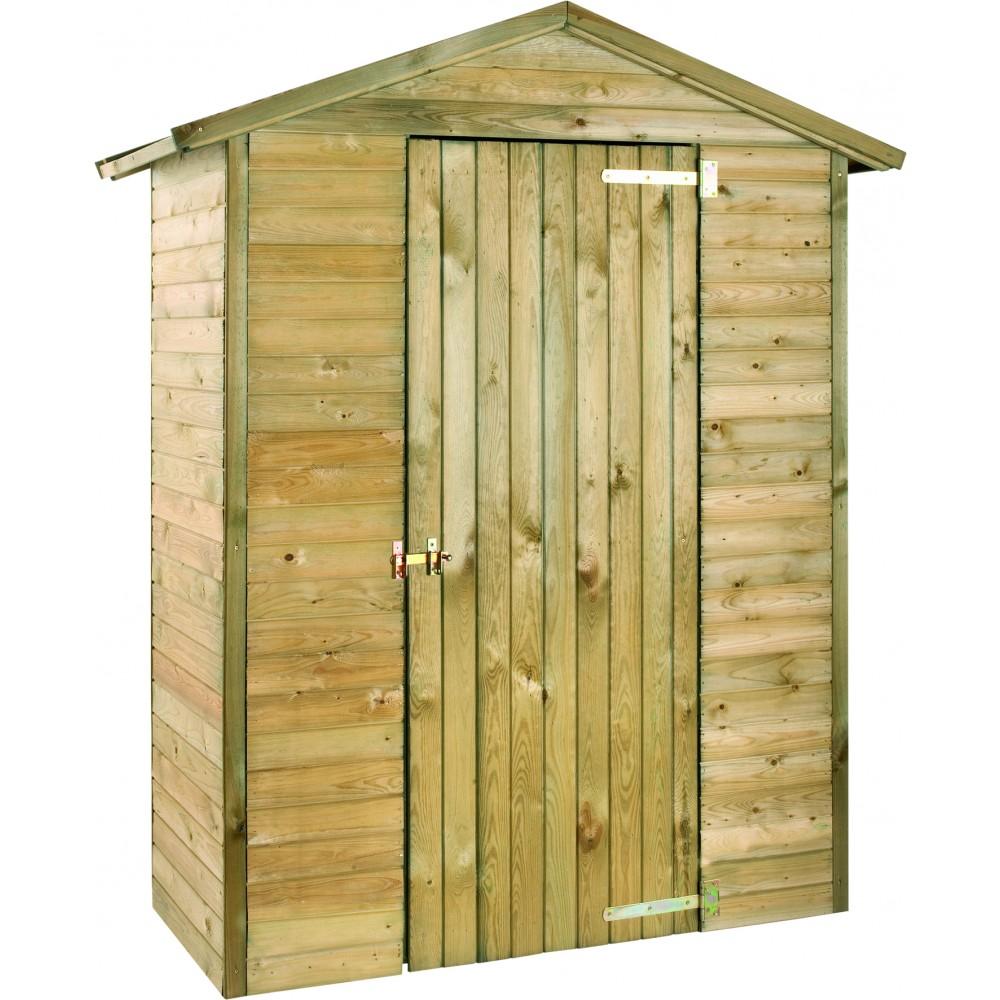armoire de jardin en bois 175 x 83 cm hauteur 215 cm. Black Bedroom Furniture Sets. Home Design Ideas