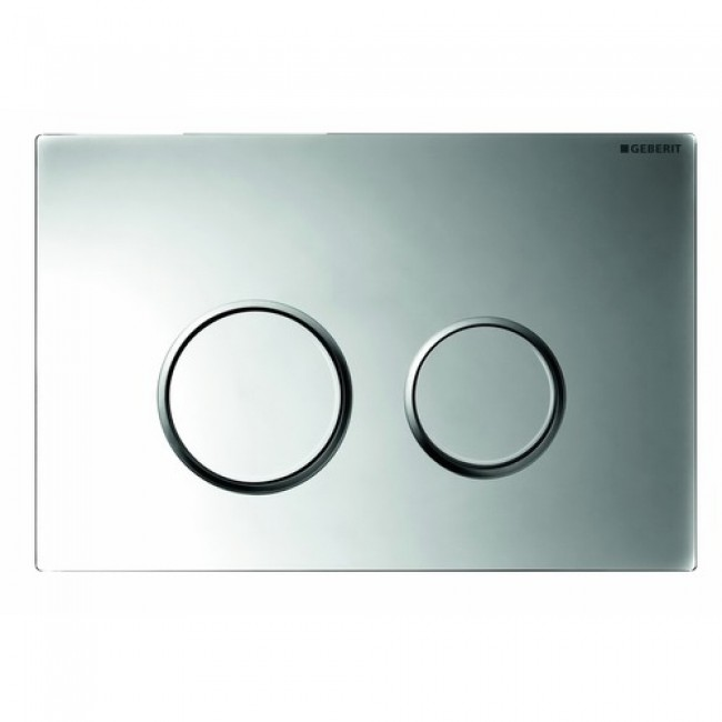 Plaque de commande double touche - Sigma 20 - chromé brillant GEBERIT