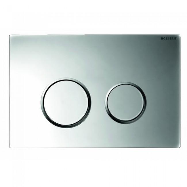 Plaque de commande double touche - Sigma 20 - chromé brillant GEBERIT
