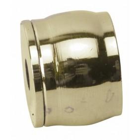 Piton d'embrasure pour tube de penderie rond-laiton poli BRICOZOR