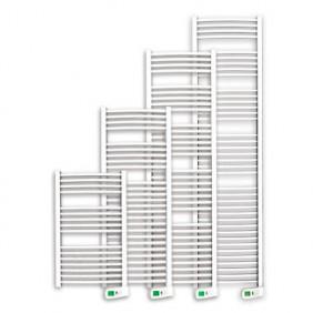 Sèche-serviettes électrique - tubes incurvés - Sygma Blanc ROINTE