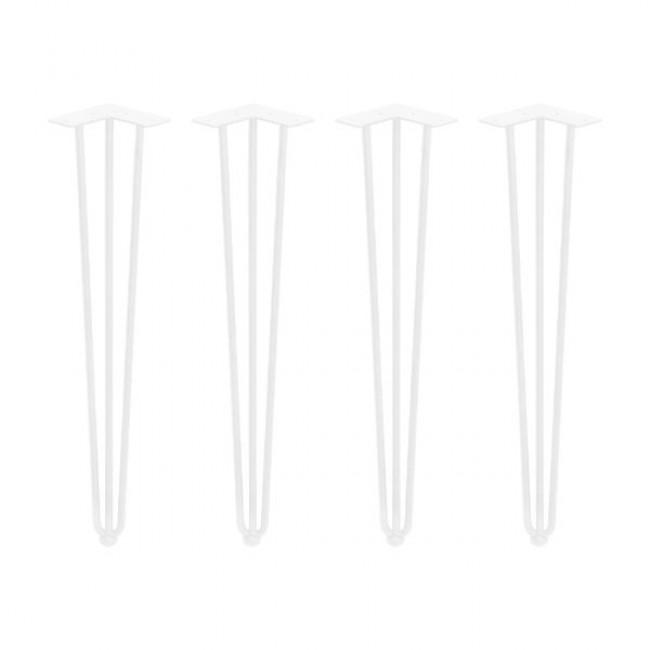 Pied à 3 barres pour table - hauteur 710 mm - jeu de 4 - Hairpin EMUCA