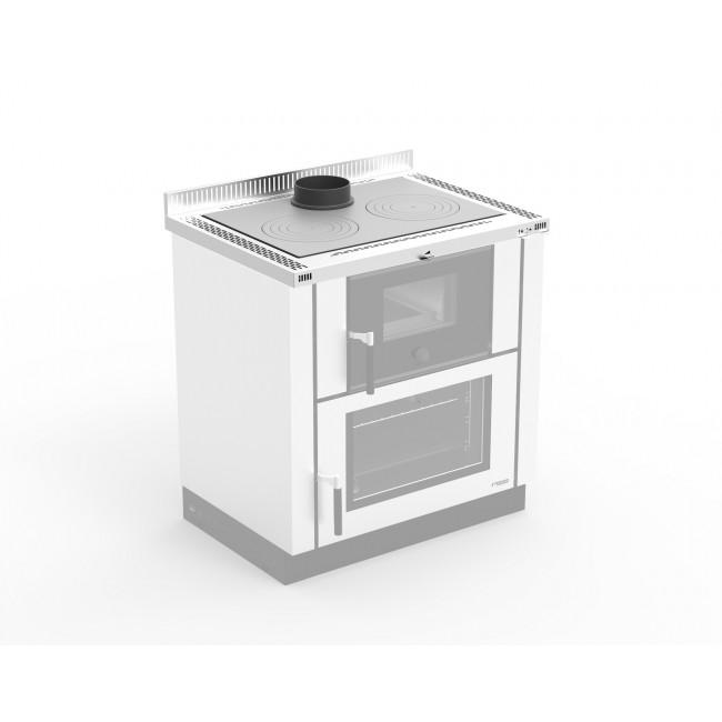 Top 4 cm Inox - pour cuisinière à bois LA NORDICA EXTRAFLAME