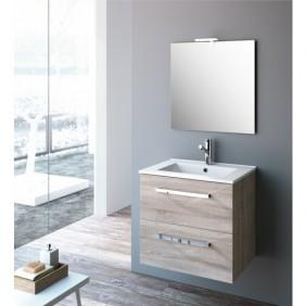 Meuble de salle de bain - chêne caledonia -  Studio Kit Comfort CYGNUS BATH