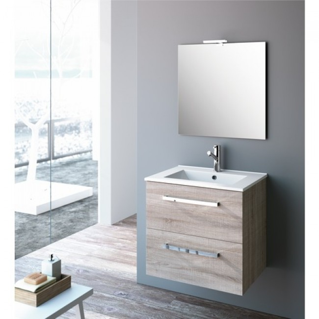 meuble de salle de bain ch ne caledonia studio kit comfort cygnus bath bricozor. Black Bedroom Furniture Sets. Home Design Ideas
