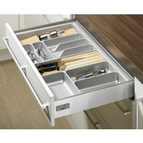 Range-couverts gris OrgaTray 410 pour tiroir Innotech