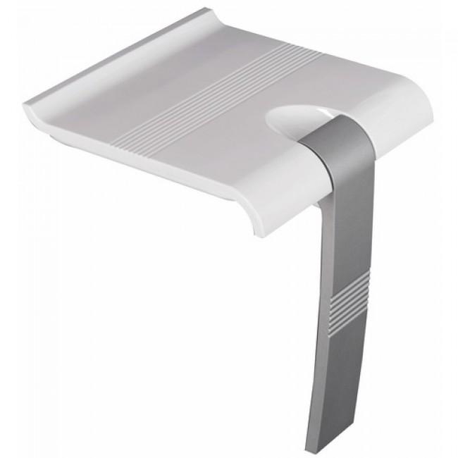 Siège de douche relevable - blanc/gris à béquille automatique - Arsis PELLET ASC