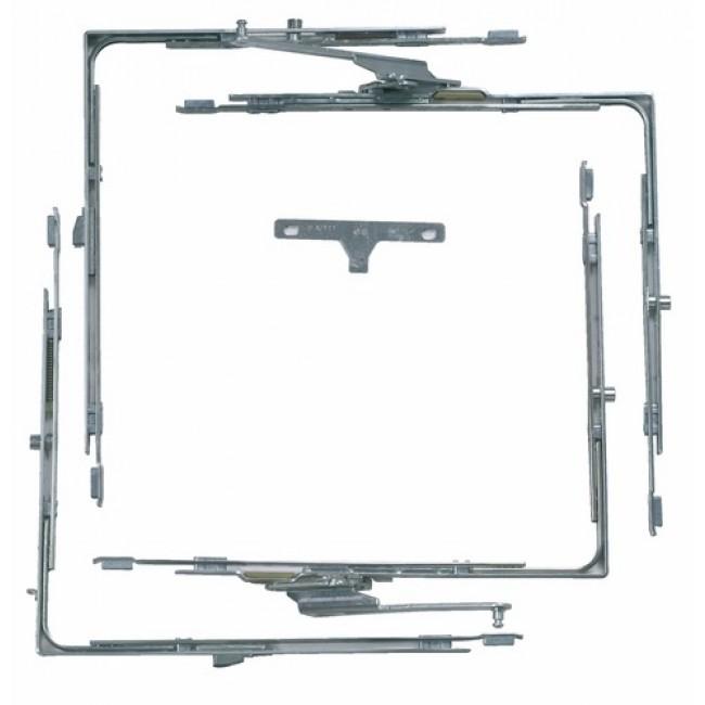Compas pour ferrures coulissantes à translation GU 966 - axe à 13 mm FERCO