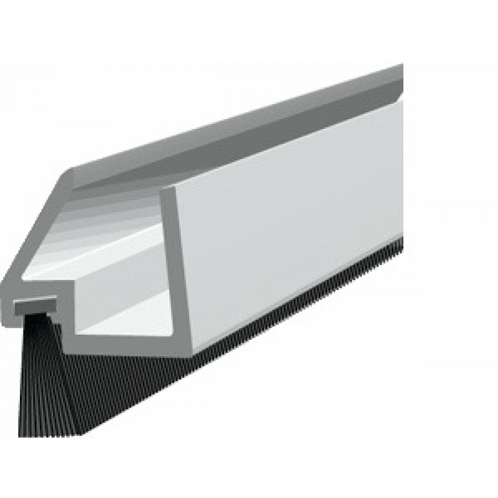 Plinthe brosse d port e pour porte en verre gds ellen - Joint balai porte coulissante ...