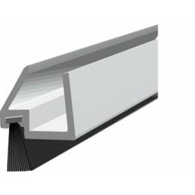 Plinthe à brosse déportée pour porte en verre - GDS ELLEN