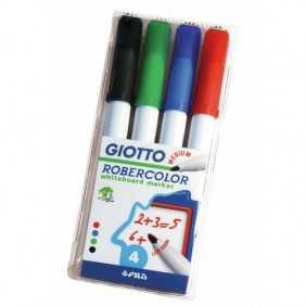 Pochette marqueurs effaçables pour tableaux blancs quatre couleurs LYRA