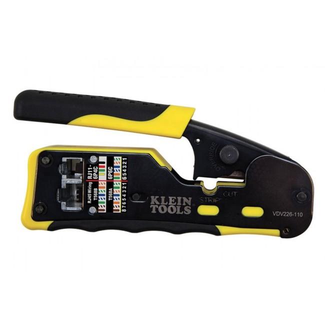 Pince à sertir modulaire compacte Pass-Thru™ Klein Tools