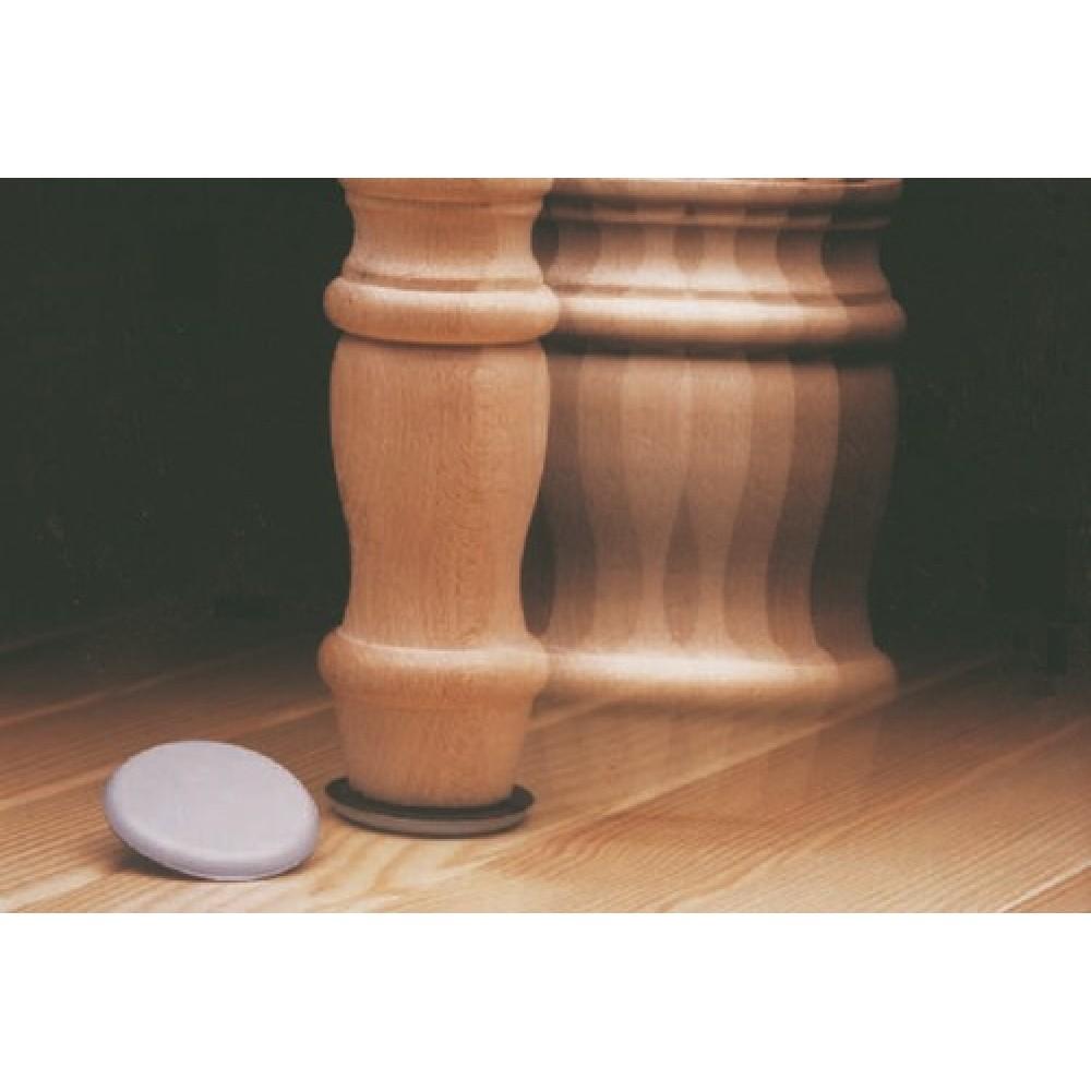 patin glisseur adh sif en t flon rond erels bricozor. Black Bedroom Furniture Sets. Home Design Ideas