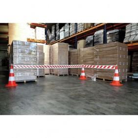 Barrière de chantier télescopique pour signalisation et sécurité NOVAP