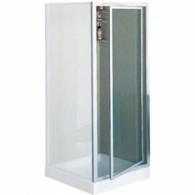 Porte douche pivotante verre granité Riviera G - 78 à 82 cm NOVELLINI
