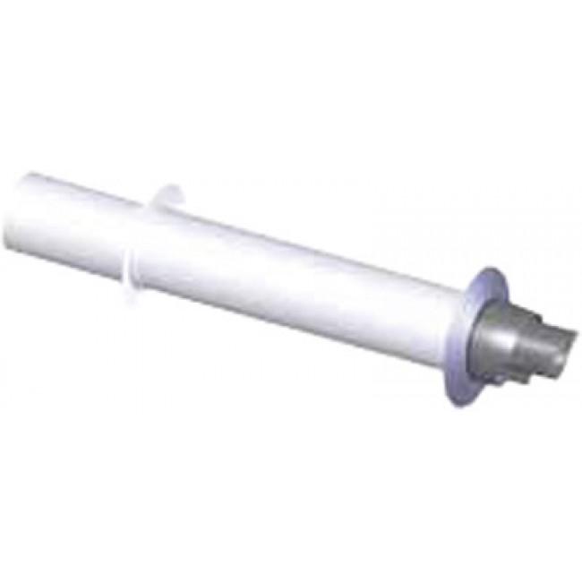 Terminal horizontal Econext PPs/Galva pour appareil à condensation TEN