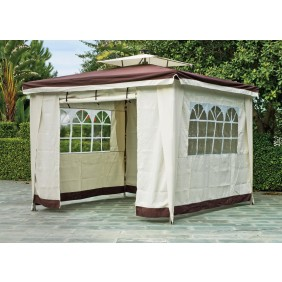 Tonnelle de jardin 300x300 cm en acier SIDNEY HEVEA