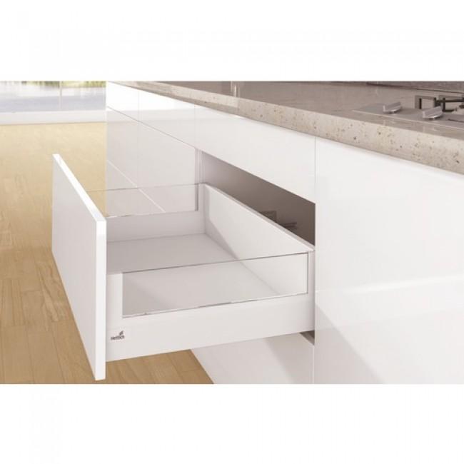 Kit tiroir DesignSide ArciTech-profil H94-dos H186mm-blanc HETTICH