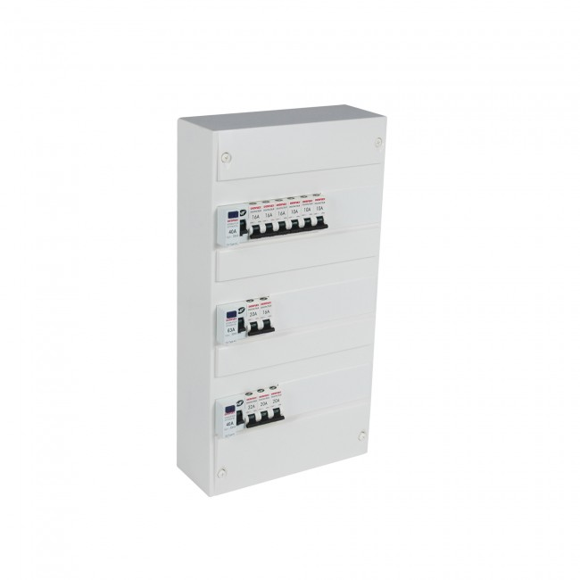 Coffret électrique - pré-équipé - capacité 39 modules DEBFLEX