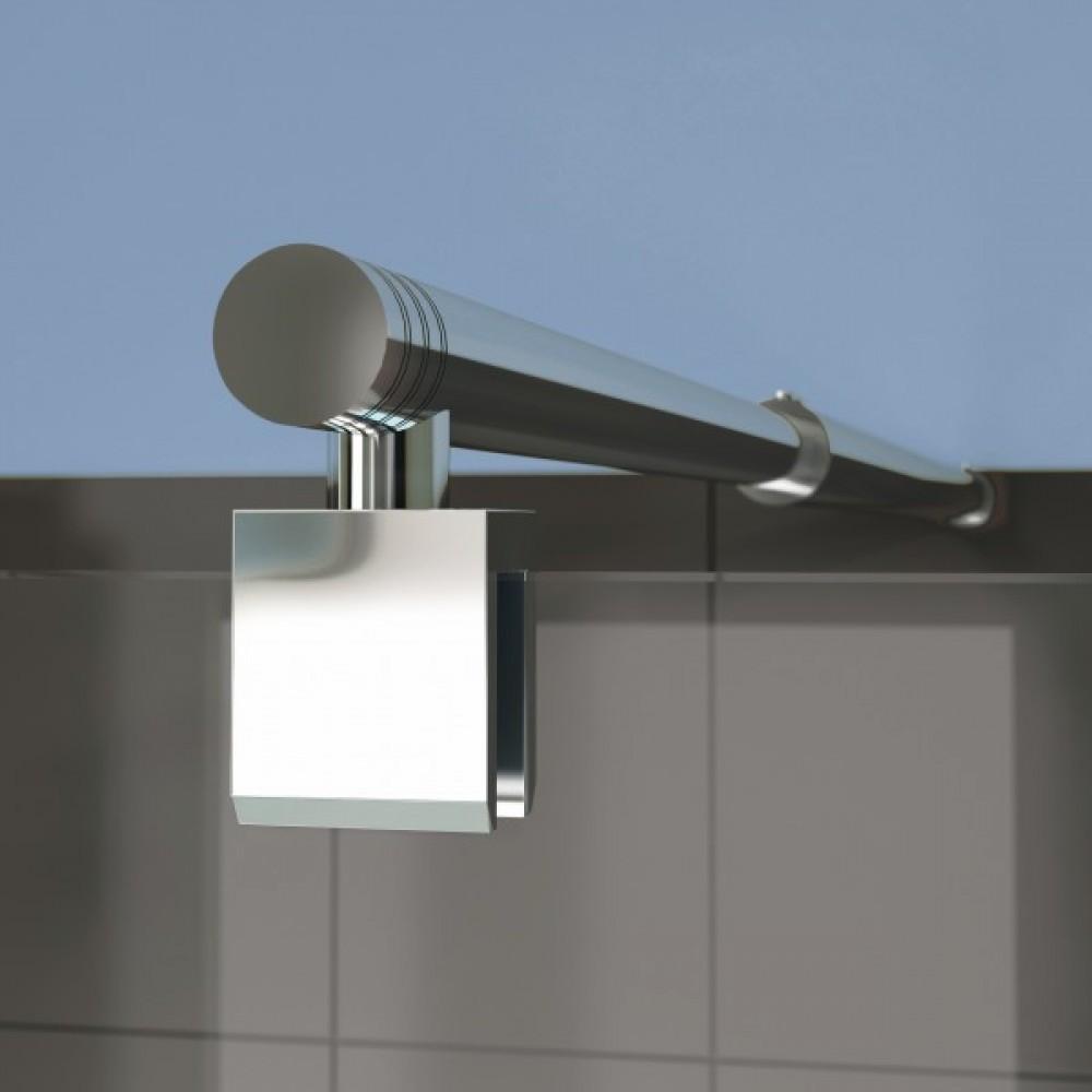 Paroi de douche d 39 angle portes pivotantes smart solo p for Montage porte de douche