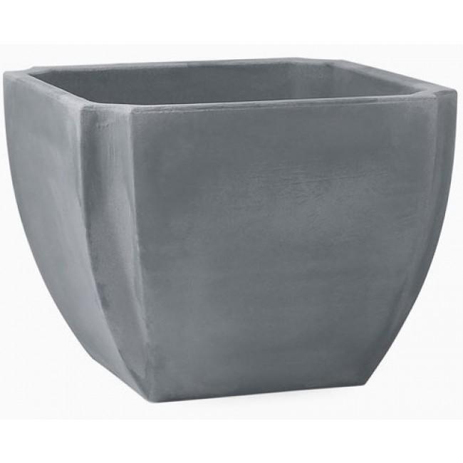 Bac à fleurs carré taupe - 110 litres - gris - Palmea  13901