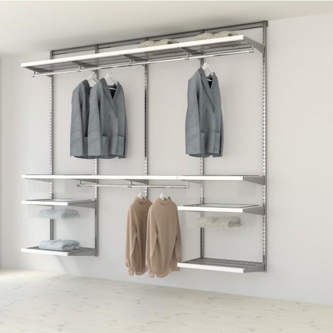 Kit dressing Décor - L180xP40- platinium/bois blanc ELFA