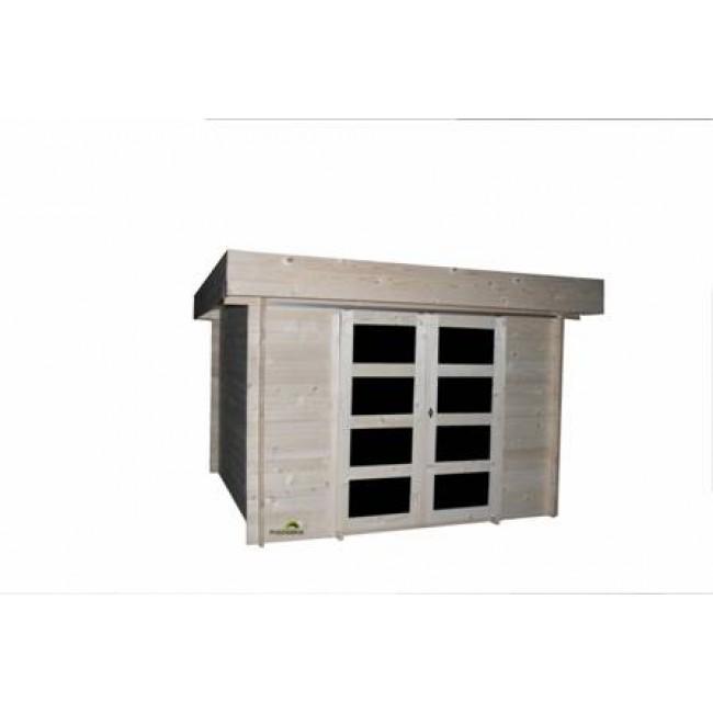 abri de jardin bois 8 7m2 28mm ab0316 bricozor. Black Bedroom Furniture Sets. Home Design Ideas