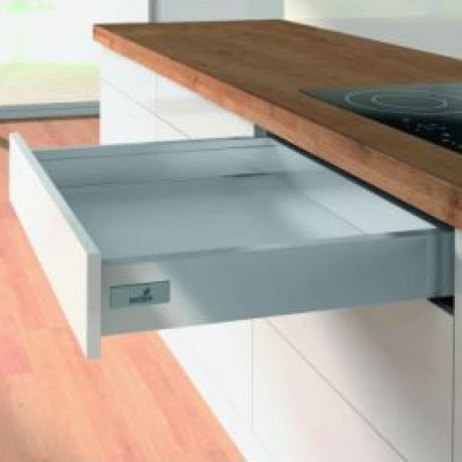 Kit tiroir simple monté InnoTech Atira-H70mm-Silent System 30 kg HETTICH